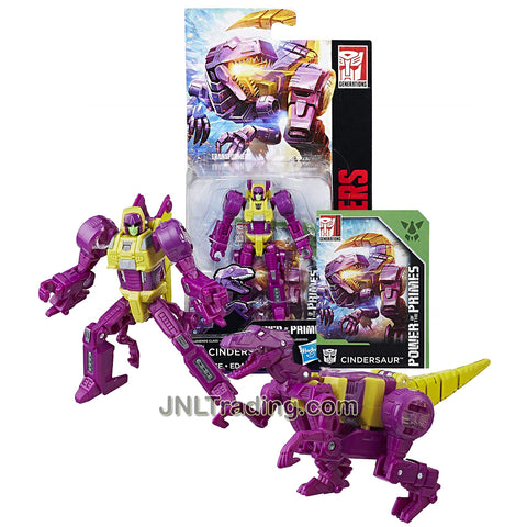 Year 2017 Transformers Generations Power of the Primes Series Legends Class 4 Inch Tall Figure - Cindersaur with Collector Card (Beast Mode: Lizard Monster)