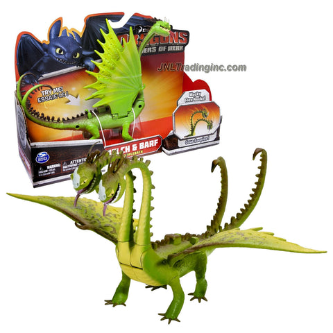 "Spin Master Year 2013 Dreamworks Movie Series ""DRAGONS - Defenders of Berk"" 10 Inch Long Dragon Figure - Zippleback BELCH and BARF with Wing Flap Action, Wacky Flex Necks and Double Headed Attack"