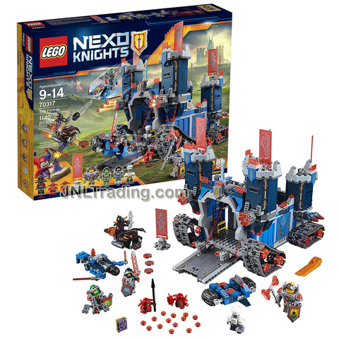 Lego Year 2016 Nexo Knights Set #70317 - THE FORTREX with Night Cycle, Aero Striker, Firesquito Plus Clay Moorington, Aaron Fox, Axl, Chef Eclair, Ash Attacker & 2 Scurriers Minifigures (Pieces:1140)