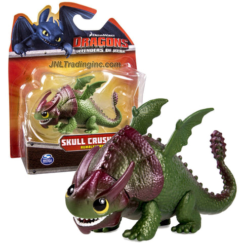 "Spin Master Year 2013 Dreamworks Movie Series ""DRAGONS - Defenders of Berk"" 3-1/2 Inch Long Dragon Figure - Rumblehorn SKULL CRUSHER"