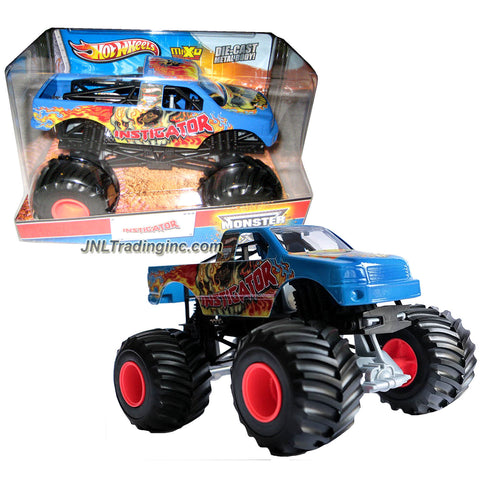 "Hot Wheels Year 2013 Monster Jam 1:24 Scale Die Cast Official Monster Truck Series - INSTIGATOR (X9027) with Monster Tires, Working Suspension and 4 Wheel Steering (Dimension - 7"" L x 5-1/2"" W x 4-1/2"" H)"