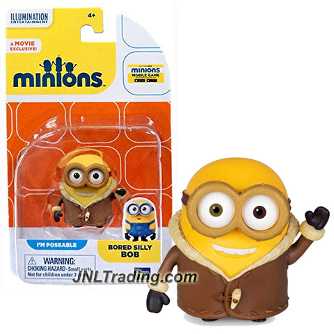 Thinkway Toys Illumination Entertainment Movie Minions 2 Inch Tall Figure - BORED SILLY BOB