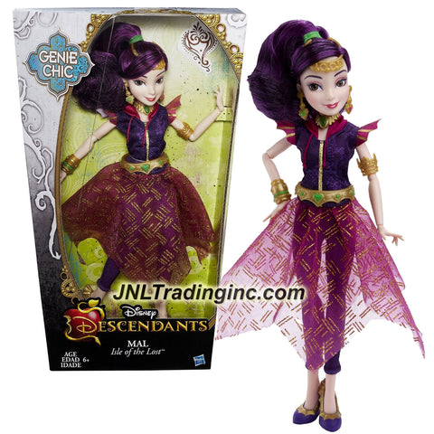 "Hasbro Year 2015 Disney Descendants Genie Chic Series 12"" Doll - Isle of the Lost MAL with Earrings and Choker Necklace"