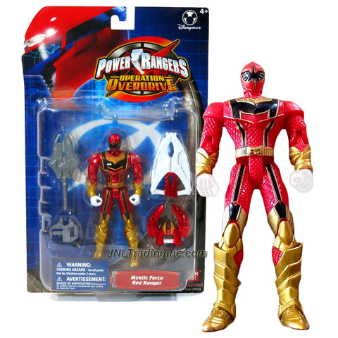 Bandai Year 2006 Power Rangers Operation Overdrive Series 5-1/2 Inch Tall Action Figure - MYSTIC FORCE RED RANGER with Claw Weapon, Twin Blade and Sword