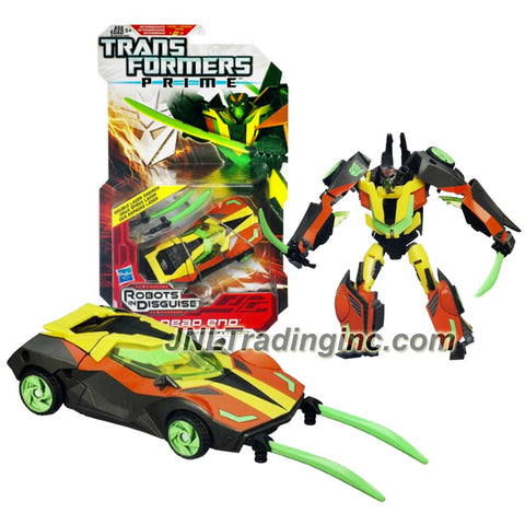 Transformer Year 2011 Robots In Disguise Prime Series 6 Inch Tall Figure -Decepticon DEAD END with Double Laser Swords (Vehicle Mode: Sports Car)