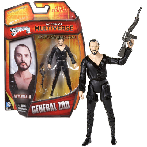 "Mattel Year 2013 DC Comics Multiverse Superman II Series 4"" Tall Figure - GENERAL ZOD with Bent Assault Rifle"