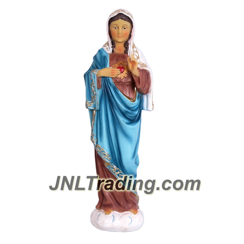 Giovanni Giftware Collection Religious Home Decor Catholic Saints Series 16 Inch Tall Figurine - SACRED HEART OF IMMACULATE MARY (D28144)