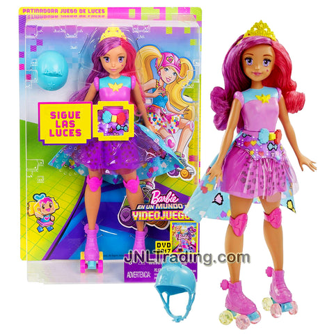 "Mattel Year 2016 Barbie Video Game Hero Series 12 Inch Electronic Doll Set - PRINCESS BELLA DTW00 with ""Follow the Lights"" Game Plus Helmet and Tiara"