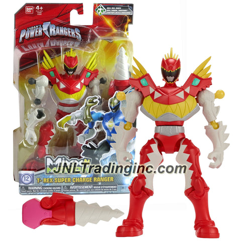 Bandai Year 2015 Saban's Power Rangers Mixx N Morph Series 7 Inch Tall Action Figure - T-REX SUPER CHARGE RANGER with Drill Hand
