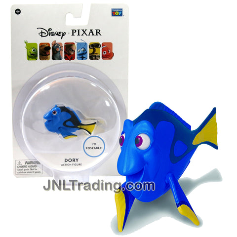 Thinkway Toys Disney Pixar Finding Nemo Movie Series 3 Inch Long Poseable Figure - Blue Tang Surgeonfish DORY