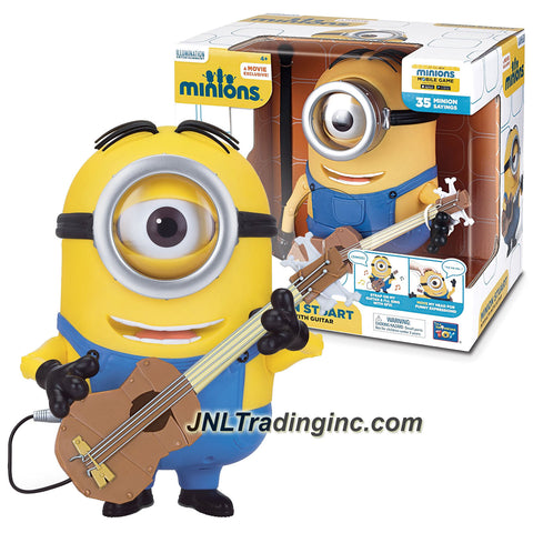 Illumination Entertainment Minions Movie Exclusive 8-1/2 Inch Tall Electronic Figure - MINION STUART Interacts with Guitar