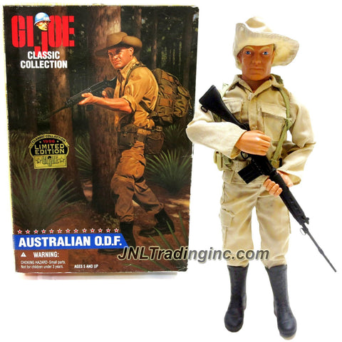 Hasbro Year 1996 Limited Edition G.I. JOE Classic Collection 12 Inch Tall Soldier Figure - AUSTRALIAN O.D.F. (Blonde Version) with Slouch Hat, Boots, Rucksack, Pouches, Canteen Plus Automatic Rifle