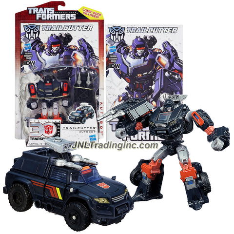"Hasbro Year 2012 Transformers Generations ""Thrilling 30"" Series Deluxe Class 6 Inch Tall Robot Action Figure - Autobot TRAILCUTTER with Battle Shield and Comic Book (Vehicle Mode: Sport Utility Vehicle SUV)"