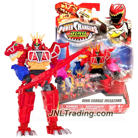Bandai Year 2015 Saban's Power Rangers Dino Super Charge Series 5 Inch Tall Action Figure - DINO CHARGE MEGAZORD with Sword