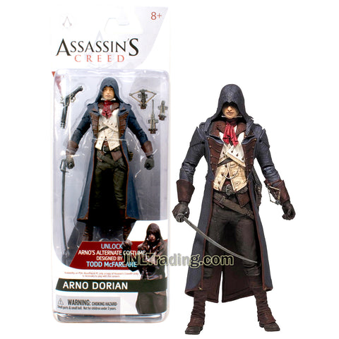 Year 2014 McFarlane Toys Assassins Creed Series 6 Inch Tall Figure - ARNO DORIAN with Gun, Sword, Wrist Mounted Crossbow and Blade