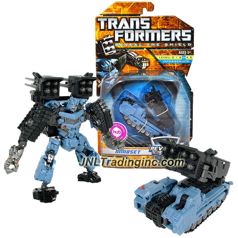 Transformer Year 2010 Reveal The Shield Series Deluxe Class 6 Inch Tall Figure - MINDSET with Missile Launcher and 8 Firing Missiles (Vehicle Mode: MLRS Tank)