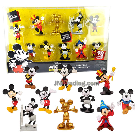 Year 2018 Disney Special Edition 10 Pack Collectible 4 Inch Deluxe Figure Set - MICKEY THE TRUE ORIGINAL