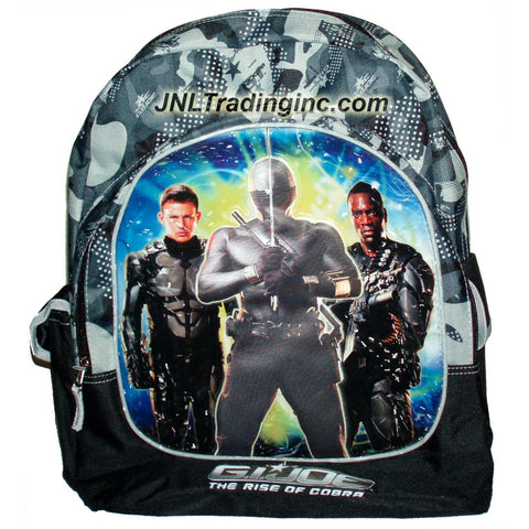FFNY GI JOE Movie Series The Rise of Cobra Camo Grey Backpack with Image of Duke, Snake Eyes and Heavy Duty