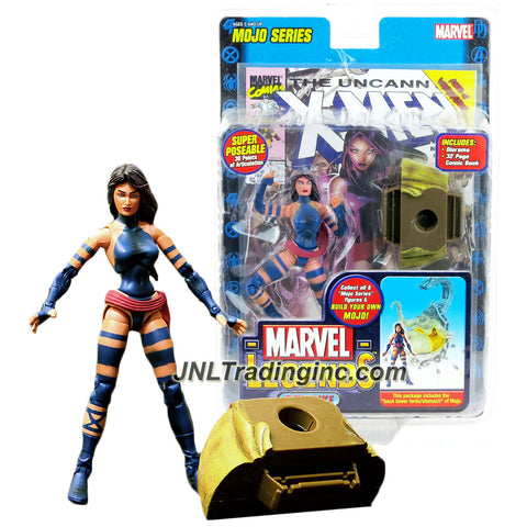 ToyBiz Year 2006 Marvel Legends Mojo Series 6 Inch Tall Action Figure - PSYLOCKE with 30 Points of Articulation, Diorama, Comic Book and Mojo's Back Lower Torso/Stomach