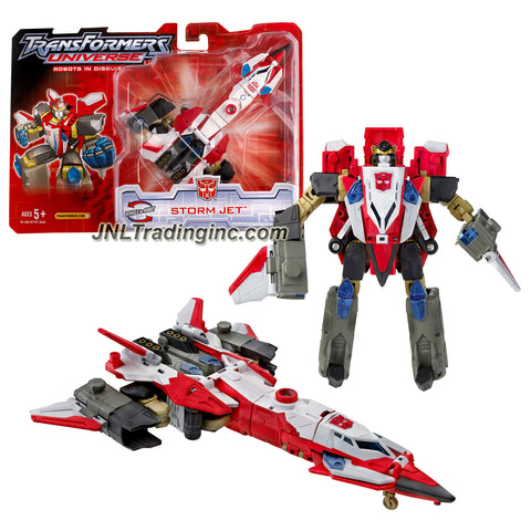 Hasbro Year 2005 Transformers UNIVERSE Series Deluxe Class 6 Inch Tall Robot Action Figure - Autobot STORM JET (Vehicle Mode: Fighter Jet)