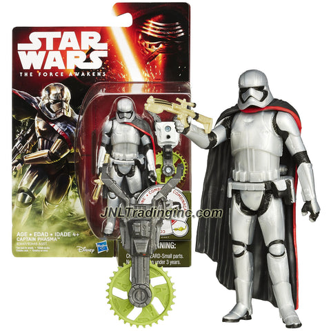 Hasbro Year 2015 Star Wars The Force Awakens Series 4 Inch Tall Action Figure - CAPTAIN PHASMA (B3447) with Blaster Plus Build A Weapon Part #1