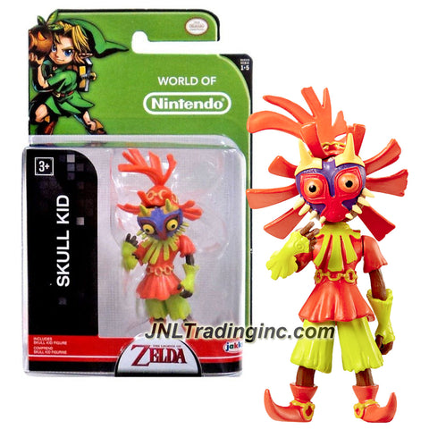 "Jakks Pacific Year 2015 World of Nintendo ""The Legend of Zelda"" Series 3 Inch Tall Mini Figure - SKULL KID"