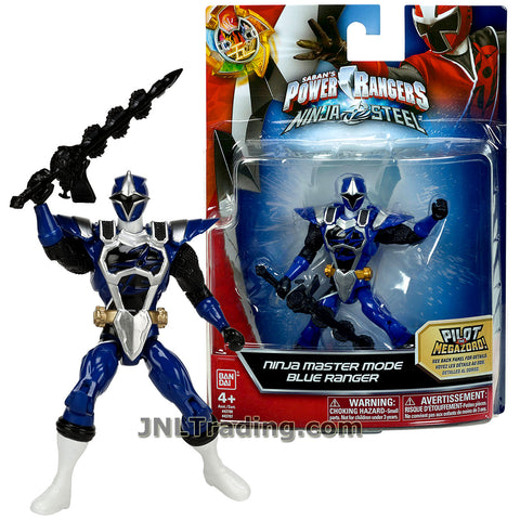 Power Rangers Year 2017 Saban's Ninja Steel Series 5 Inch Tall Figure - Ninja Master Mode BLUE RANGER with Sword