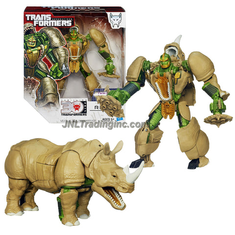 "Hasbro Year 2013 Transformers Generations ""Thrilling 30"" Series Voyager Class 7 Inch Tall Robot Action Figure - Maximal RHINOX with Twin Spinning Gattling Gun (Beast Mode: Rhinoceros)"
