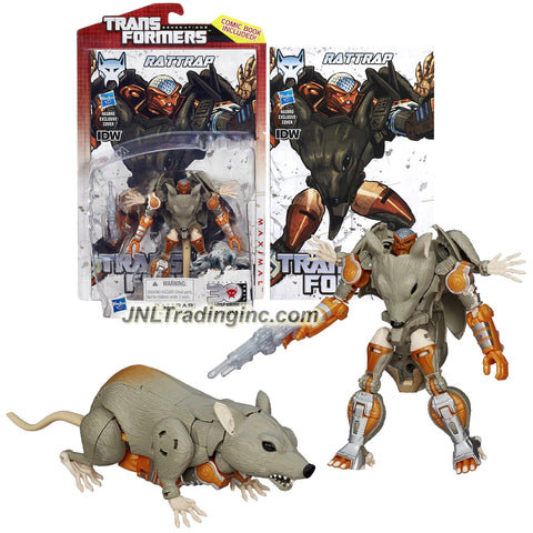 "Hasbro Transformers Generations Thrilling 30 Series Deluxe Class 5"" Tall Figure #017 - Maximal RATTRAP with Blaster Rifle (Beast Mode: Rat)"