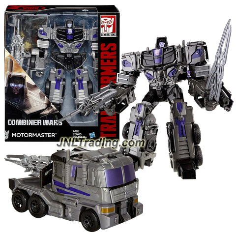 "Hasbro Year 2015 Transformers Generations Combiner Wars Voyager Class 7"" Tall Figure - MOTORMASTER w/ Blaster, Sword & Collector Card (Vehicle:Truck)"