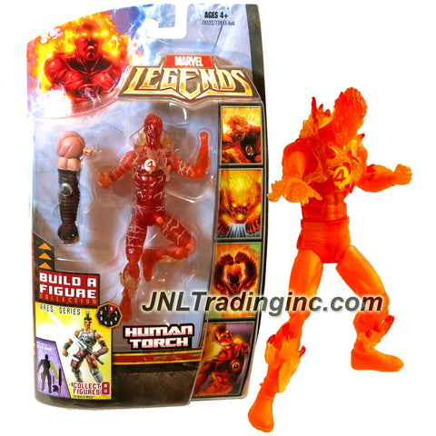 Hasbro Year 2008 Marvel Legends Exclusive Limited Edition Build A Figure Collection Ares Series 6 Inch Tall Action Figure - Variant Flame Form HUMAN TORCH with Ares Left Arm