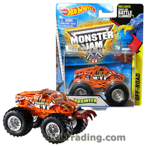 "Hot Wheels Year 2014 Monster Jam 1:64 Scale Die Cast Truck OFF-ROAD Series - PROWLER W2398 with Snap-On Battle Slammer (D: 3-1/2"" L x 2-1/4"" W x 2-1/2"" H)"