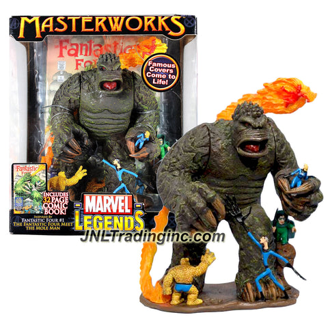 Marvel Legends Year 2006 Masterworks Famous Covers Come to Life! Series Figure Set - The Fantastic Four Meet the Mole Man with 32 Page Comic Book