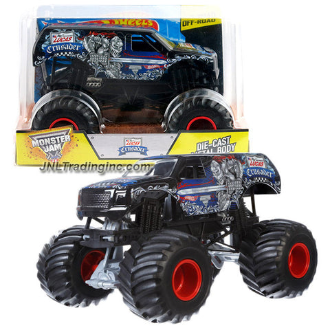 Hot Wheels Year 2015 Monster Jam 1:24 Scale Die Cast Metal Body Official Monster Truck Series #CGD81 - Lucas Oil CRUSADER w/ Monster Tires, Working Suspension and 4 Wheel Steering