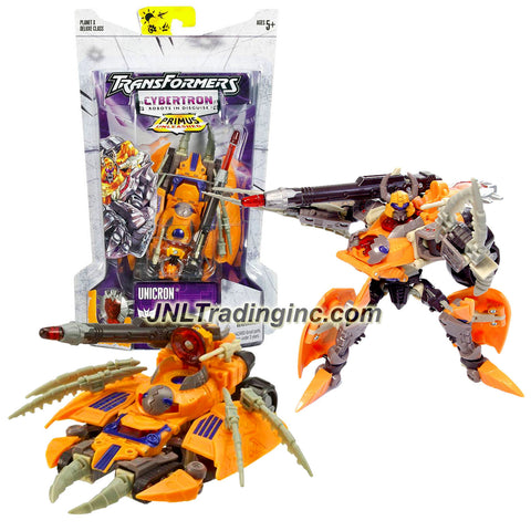 Hasbro Year 2006 Transformers Cybertron Series Deluxe Class 6 Inch Tall Robot Action Figure - Decepticon UNICRON with Anti Proton Missile and Cyber Planet Key (Vehicle Mode: Destroyer Tank)