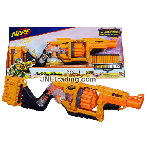 Nerf Year 2015 Doomlands 2169 Series Toy Rifle Set - LAWBRINGER with 12 Dart Rotating Drum and 12 Foam Darts