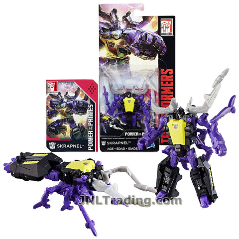 Year 2017 Transformers Generations Power of the Primes Series Legends Class 4 Inch Tall Figure - SKRAPNEL with Collector Card (Beast: Stag Beetle)