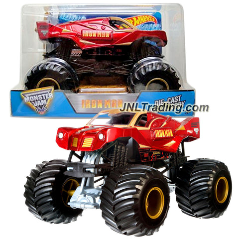 Hot Wheels Year 2016 Monster Jam 1:24 Scale Die Cast Metal Body Official Truck - IRON MAN (CHV11) with Monster Tires, Working Suspension and 4 Wheel Steering
