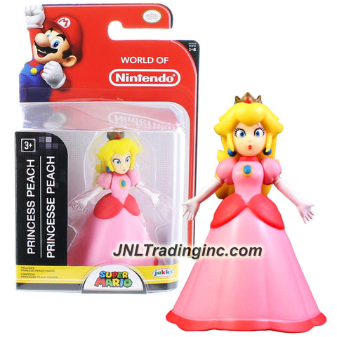 "Jakks Pacific Year 2015 World of Nintendo ""Super Mario"" Series 3 Inch Tall Mini Figure - PRINCESS PEACH"