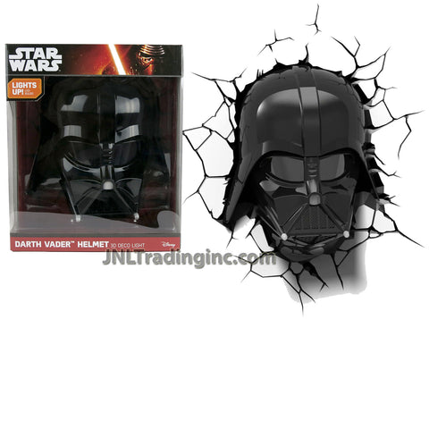 3DLightFX Star Wars Series Battery Operated 3D Deco Night Light : DARTH VADER Helmet with Light Up LED Bulbs