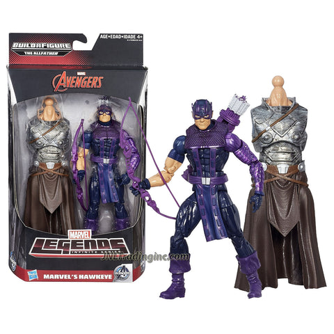 "Hasbro Year 2015 Marvel Legends Infinite Series 6"" Tall Action Figure - Marvel's HAWKEYE with Bow, Arrows and The Allfather Abdomen"