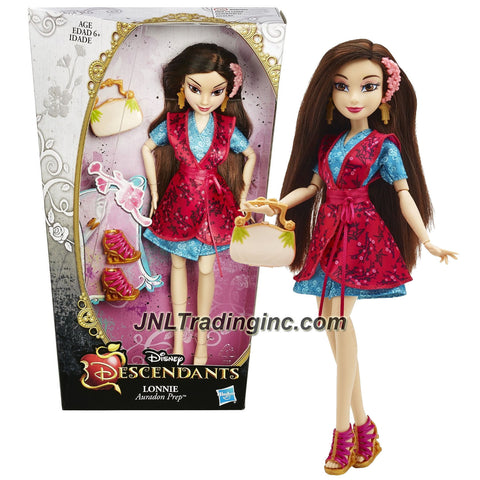 Hasbro Year 2014 Disney Descendants Series 12 Inch Doll - Auradon Prep Daughter of Mulan LONNIE with Earrings, Hairpin and Purse