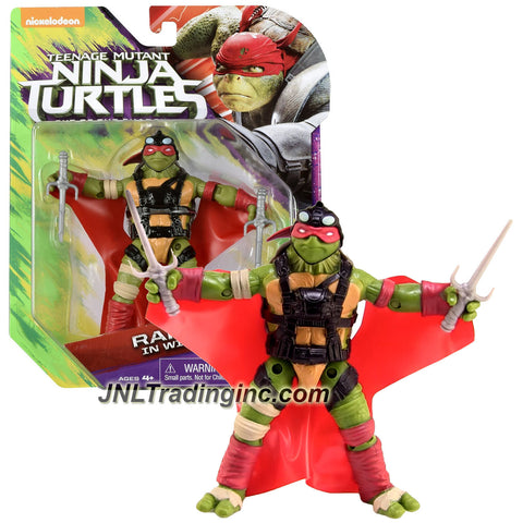 Playmates Year 2016 Teenage Mutant Ninja Turtles TMNT Movie Out of the Shadow Series 5 Inch Tall Action Figure - RAPHAEL IN WINGSUIT with Sais
