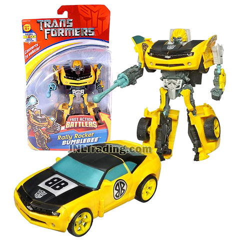 Transformer Year 2006 Fast Action Battlers Series 6 Inch Tall Figure - Rally Rocket BUMBLEBEE with Plasma Rocket and Launcher (Vehicle Mode: Camaro Concept)