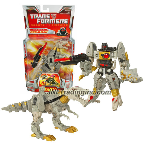 Hasbro Year 2006 Transformers Classic Series 6 Inch Tall Deluxe Class Robot Action Figure - Dinobot Commander GRIMLOCK with Blaster and Tail Whip (Beast Mode: T-Rex)