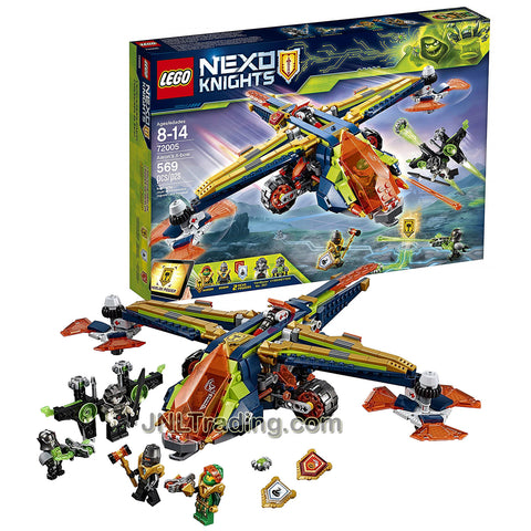 Year 2018 Lego Nexo Knights Series Set 72005 : AARON'S X-BOW with Aaron, Robin, VanByter No. 307 and CyberByter Minifigures (Pieces: 569)