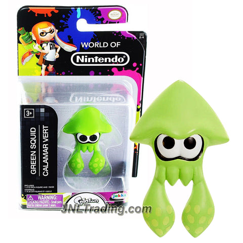 "Jakks Pacific Year 2016 World of Nintendo ""Splatoon"" Series 2-1/2 Inch Tall Mini Figure - GREEN SQUID"