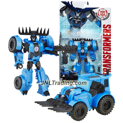 "Hasbro Year 2015 Transformers Robots in Disguise Warrior Class 5-1/2"" Tall Figure - Decepticon THUNDERHOOF with Blaster (Vehicle: Tractor)"