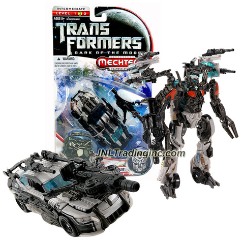 Transformers Year 2011 Dark of the Moon Movie Movie Series Deluxe Class 6 Inch Tall Figure - AUTOBOT ARMOR TOPSPIN with Combat Claw Blaster (Vehicle: Race Car)