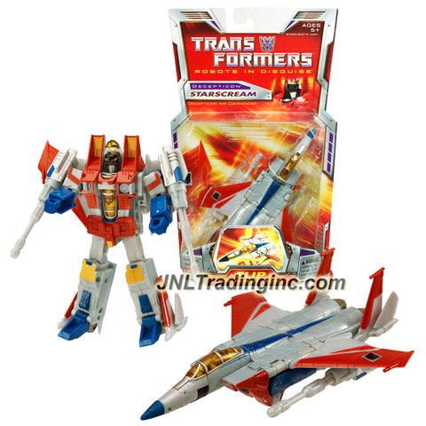 Hasbro Year 2006 Transformers Classic Series Deluxe Class 6 Inch Tall Robot Action Figure - Decepticon Air Commander STARSCREAM with Twin Null-Ray Cannons (Vehicle Mode: Fighter Jet)